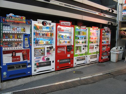 вендинговые автоматы в Японии